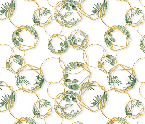 Golden chain botanicals fabric by ellila on Spoonflower - custom fabric