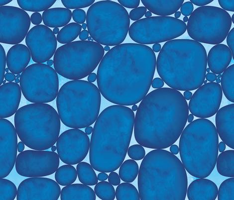 River Stones fabric by wellfleetdesigns on Spoonflower - custom fabric