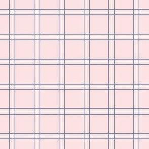 "Pretty Plaid 1"": Chambray Blue & Millennial Pink Small Plaid"