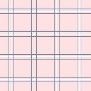 "Pretty Plaid 2"": Chambray Blue & Millennial Pink Plaid"
