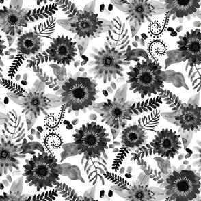 Gray Femme Flower