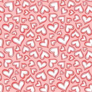 Valentine-love-hearts-pink-red-Large