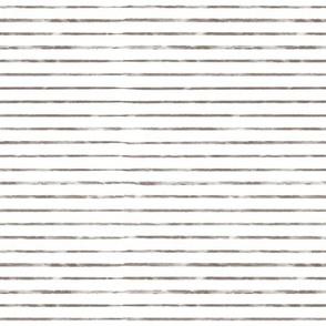 Small Scale Brown Watercolor Stripes