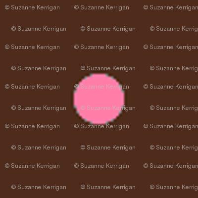 brown pink polka dot