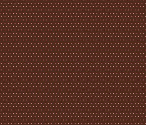 brown pink polka dot fabric by elaphus_house on Spoonflower - custom fabric