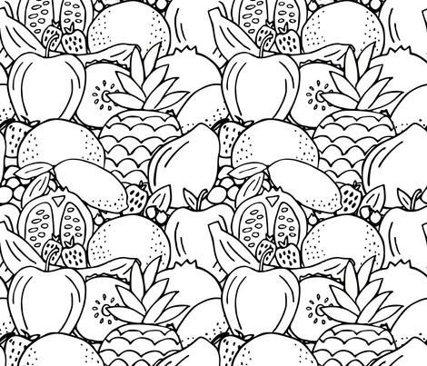 Fruit Frenzy fabric by amy_maccready on Spoonflower - custom fabric