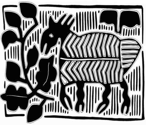 Vagabond Deer in the forest fabric by vagabond_folk_art on Spoonflower - custom fabric