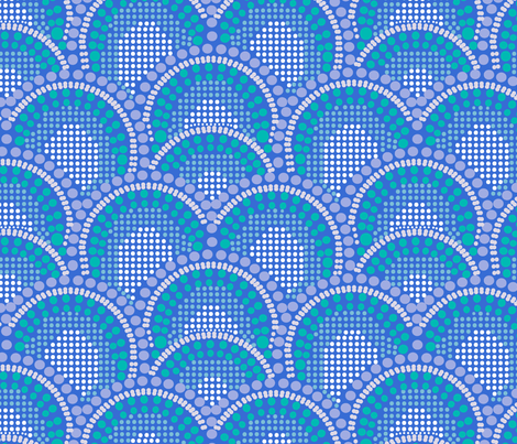 Mermaid Scales fabric by rose_and_stone on Spoonflower - custom fabric