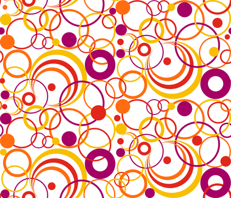 Circles Circus on White fabric by artsytoocreations on Spoonflower - custom fabric