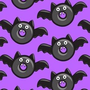 bat - vampire - halloween donuts on purple