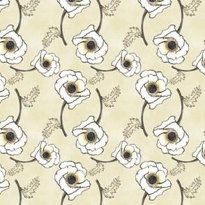Line-work Poppy Tea-Stained BG