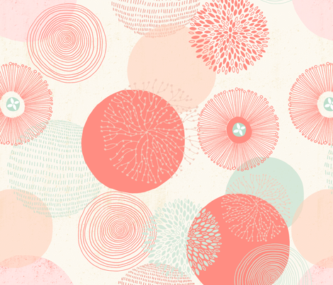 Abstract Circles fabric by melarmstrongdesign on Spoonflower - custom fabric