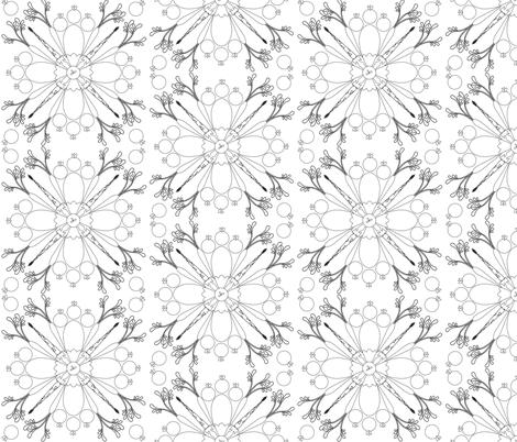 Veggie Mandala fabric by wiren_creative on Spoonflower - custom fabric
