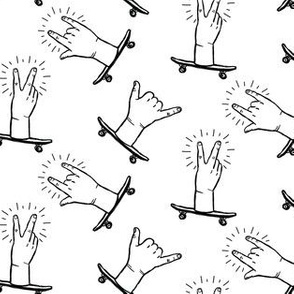 Skateboard Gestures - White
