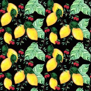 lemons in black