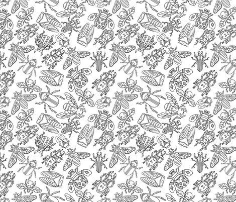 Bugs_pattern_v6 fabric by luasun on Spoonflower - custom fabric