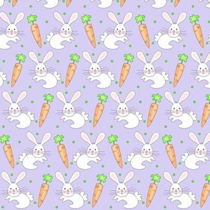 Little One / Baby Bunny n Carrot  -lavender