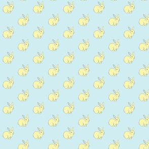 Bunny Rabbits Galore Blue & Yellow