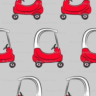 kids car on grey