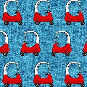 kids car on blue