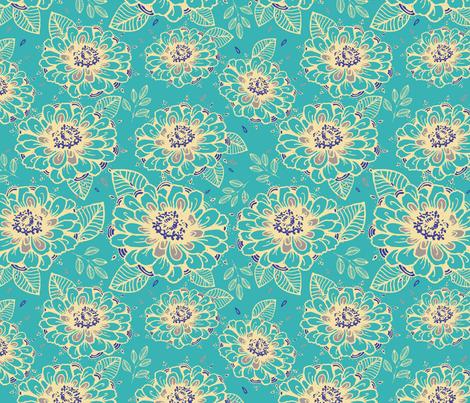 Yellow Summer Daisies  fabric by rosebudstudio on Spoonflower - custom fabric