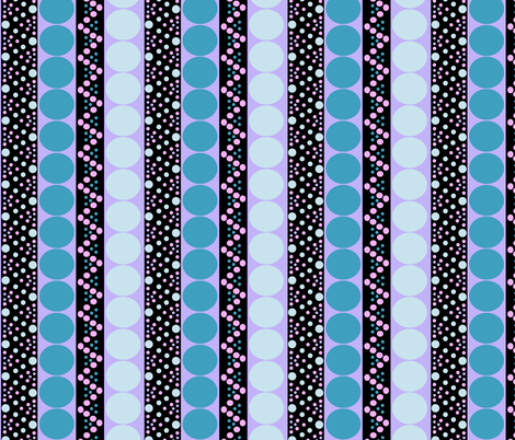 Bubble Stripe in Turquoise Pink and Purple fabric by eclectic_house on Spoonflower - custom fabric