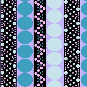 Bubble Stripe in Turquoise Pink and Purple