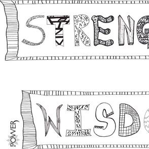 POWER- Strength Wisdom TShirt- Amber Coppings