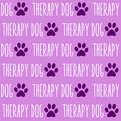 Therapy Dog Purple fabric by brainsarepretty on Spoonflower - custom fabric