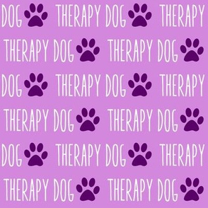 Therapy Dog Purple