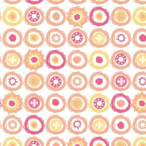 Pastel Circle Dots Pink & Yellow