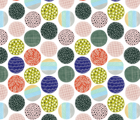 Fancy circles fabric by flowie on Spoonflower - custom fabric