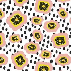 Polka Dot Doodle Flowers