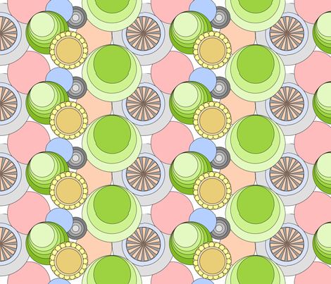 Funky Circles fabric by squidalicious_ on Spoonflower - custom fabric