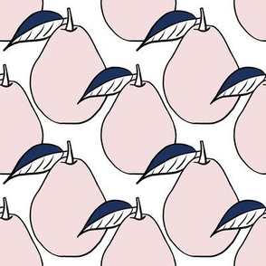 Pears - Blush and Navy