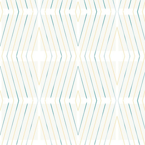 Yellow and Teal diagonal stripes