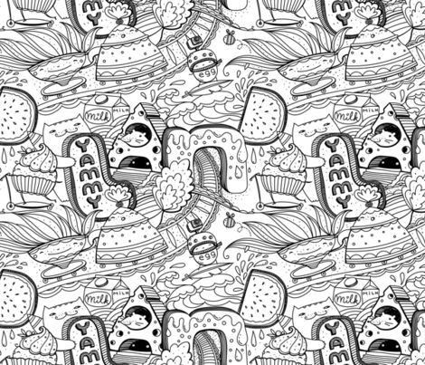 Yammy_Land fabric by elmira_arts on Spoonflower - custom fabric