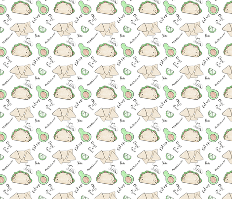 Let's Taco-bout it fabric by nmdesigns on Spoonflower - custom fabric