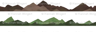 Brown and Green Mountain Ranges
