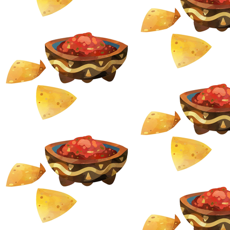 Chips and Salsa fabric by sunshineandspoons on Spoonflower - custom fabric
