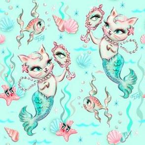 Merkittens with Pearls-AQUA-MEDIUM