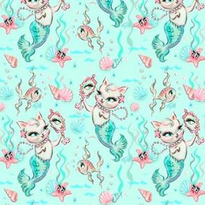 Merkittens with Pearls-AQUA-SMALL