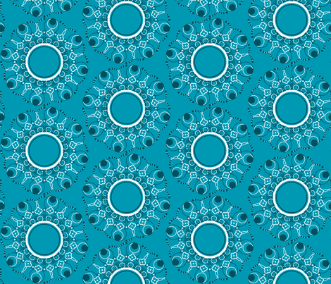 Simple Circles in Peacock fabric by geekygamergirl on Spoonflower - custom fabric