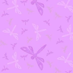 lavender dragonflies