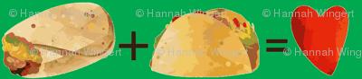 Tacos Plus Burritos on Green
