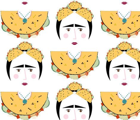 Tacos and Turquoise-large fabric by kae50 on Spoonflower - custom fabric