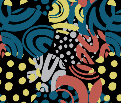 FUNKY_CIRCLES fabric by yasminah_combary on Spoonflower - custom fabric