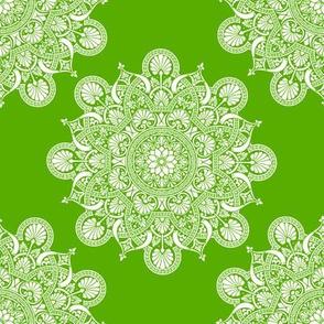 fortune mandala yellow green #82dd01
