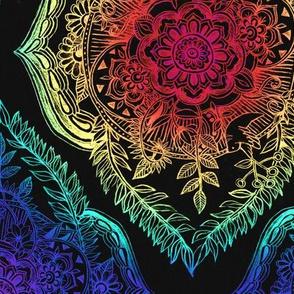 Indian Ink - Rainbow version on Black