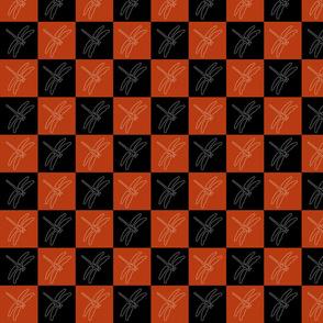 Dragonfly black orange